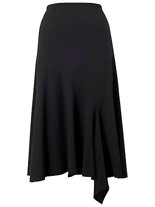 Chesca Flared Moss Crepe Skirt, Black