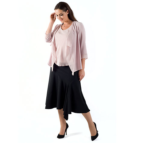 Buy Chesca Flared Moss Crepe Skirt, Black Online at johnlewis.com