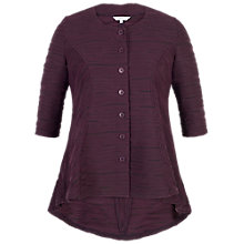 Buy Chesca Wavy Line Jacket, Aubergine/Black Online at johnlewis.com