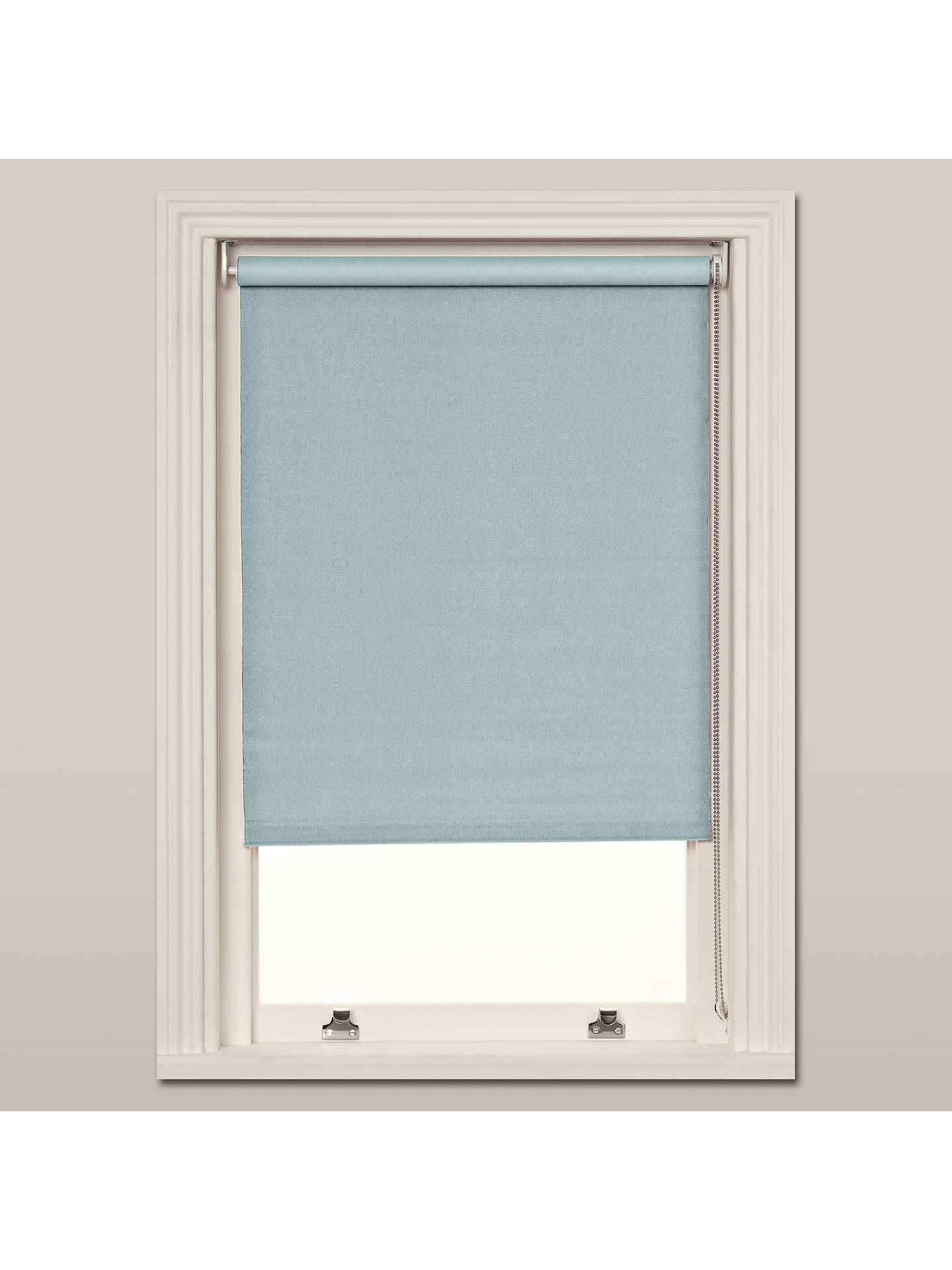 John Lewis Partners Hessian Blackout Roller Blind Duck Egg At