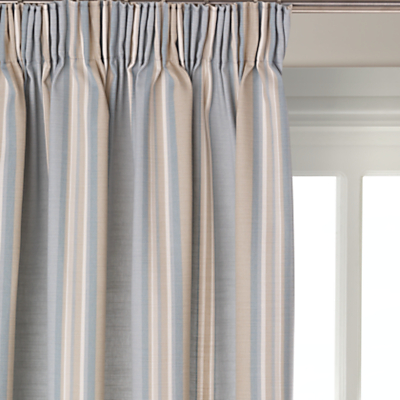 John Lewis Alban Stripe Blackout Lined Pencil Pleat Curtains