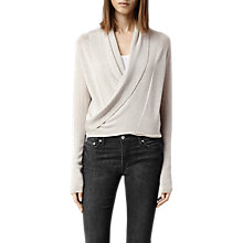 Buy AllSaints Wasson Pirate Cardigan, Oyster Online at johnlewis.com