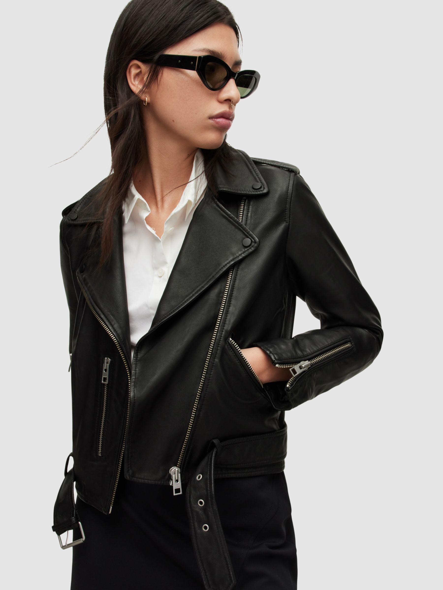 AllSaints AllSaints Balfern Leather Biker Jacket