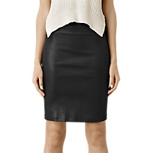 Buy AllSaints Metal Pencil Skirt, Black Online at johnlewis.com