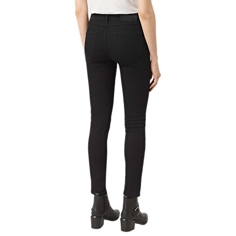 Buy AllSaints Mast Skinny Jeans, Jet Black Online at johnlewis.com