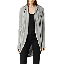 Buy AllSaints Itat Shrug, Grey Marl Online at johnlewis.com