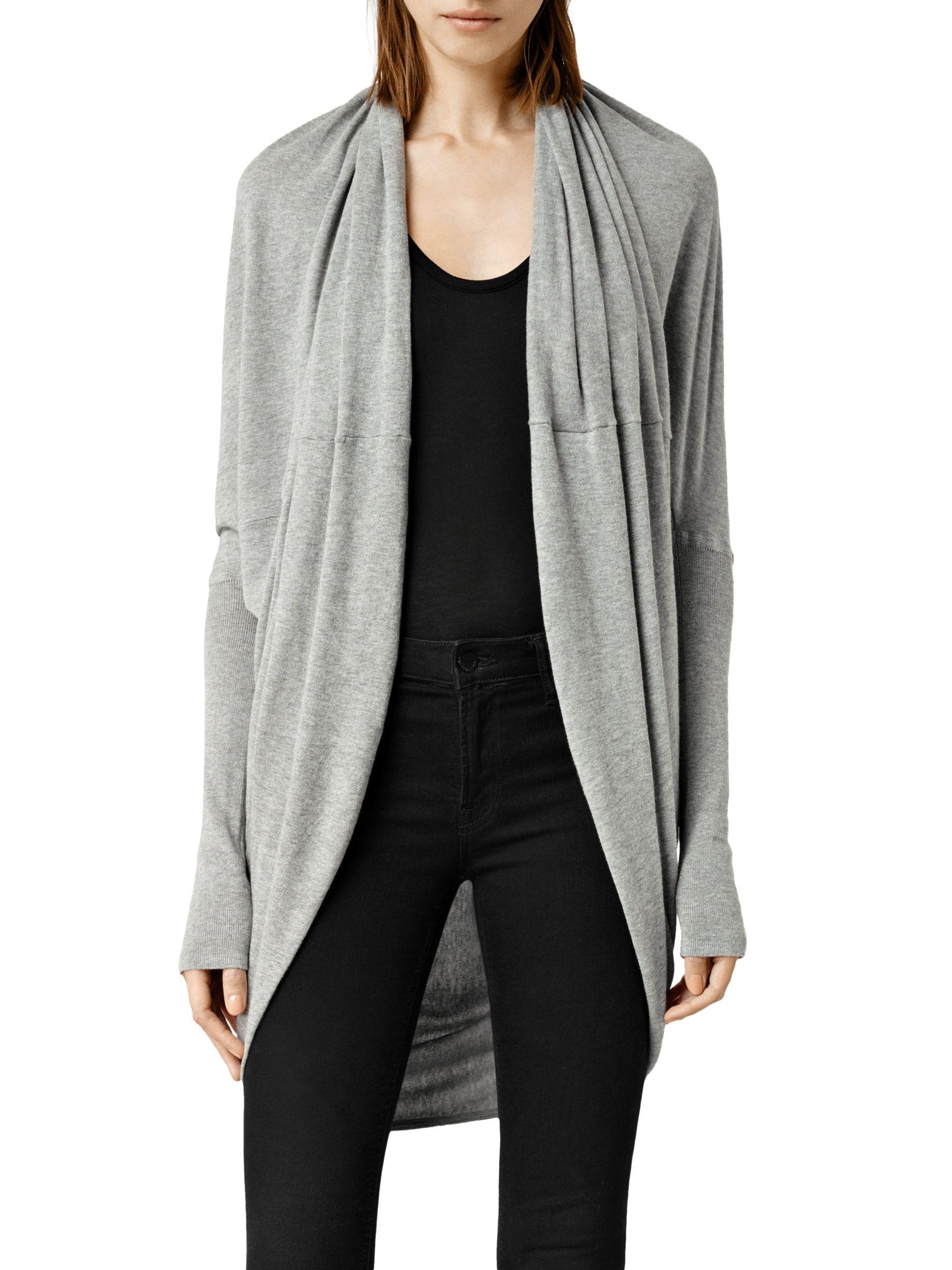 AllSaints AllSaints Itat Shrug, Grey Marl
