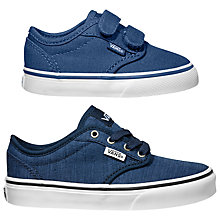 Buy Vans Children's Atwood V Shoes, Navy/White Online at johnlewis.com