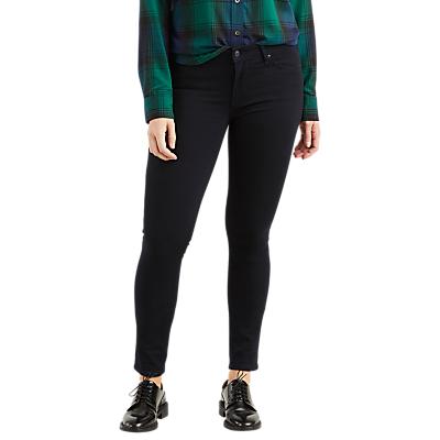 Levi's 711 Mid Rise Skinny Jeans, Black Sheep