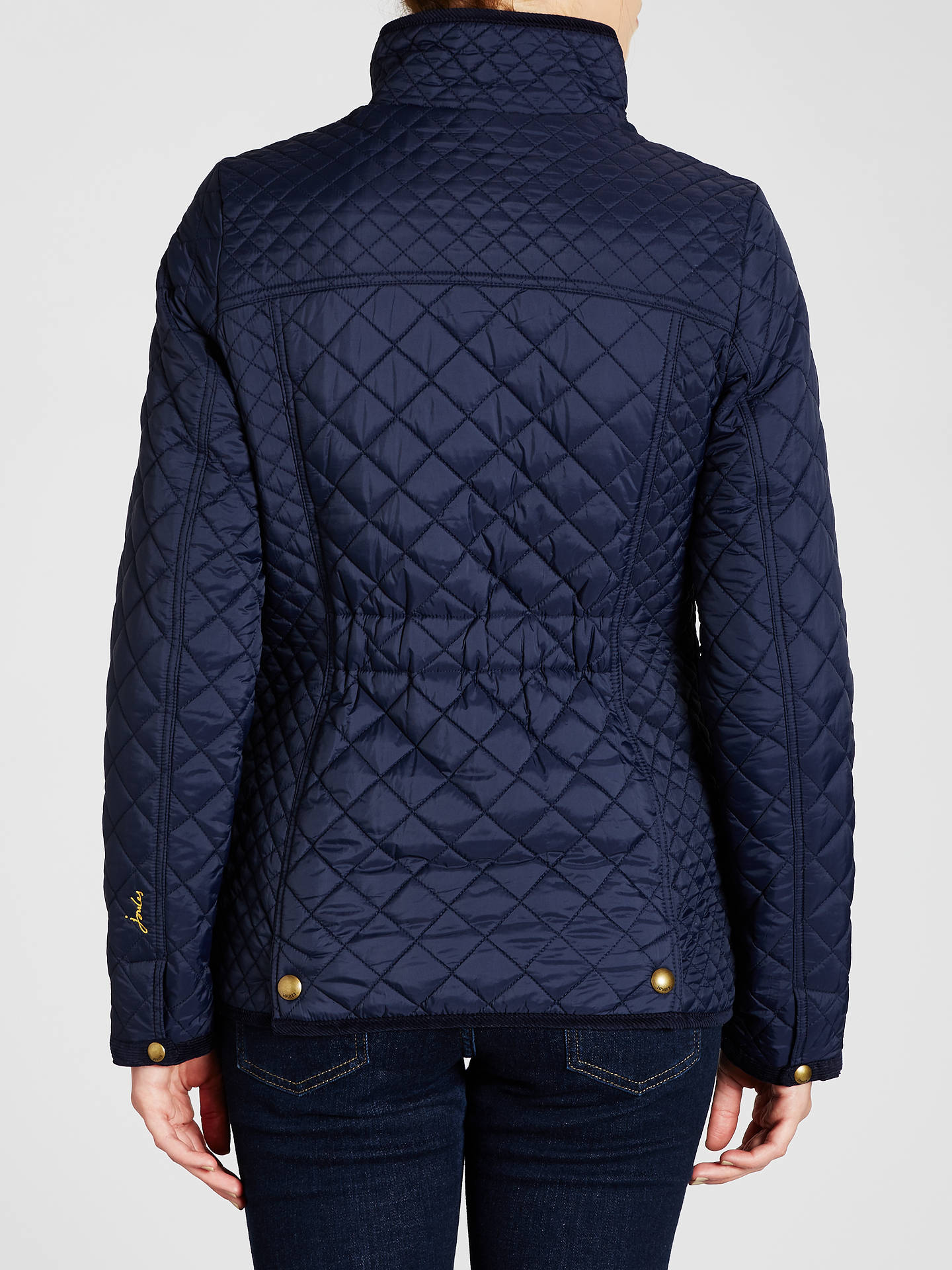Buy Joules Newdale Classic Quilted Jacket, Marine Navy, 8 Online at johnlewis.com