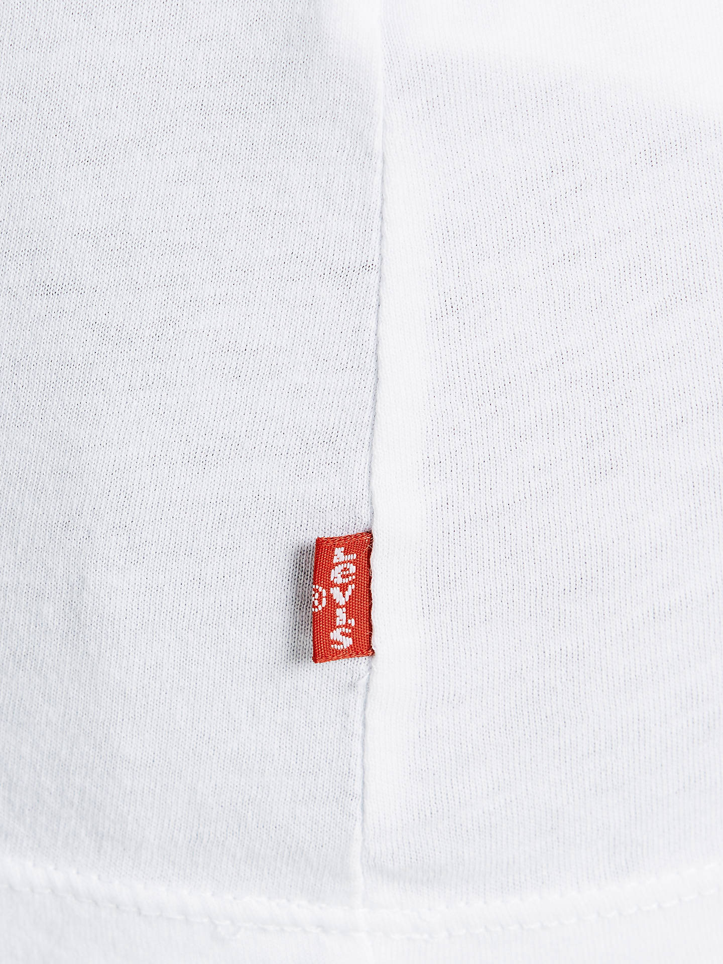 BuyLevi's The Perfect Logo T-Shirt, White, XS Online at johnlewis.com