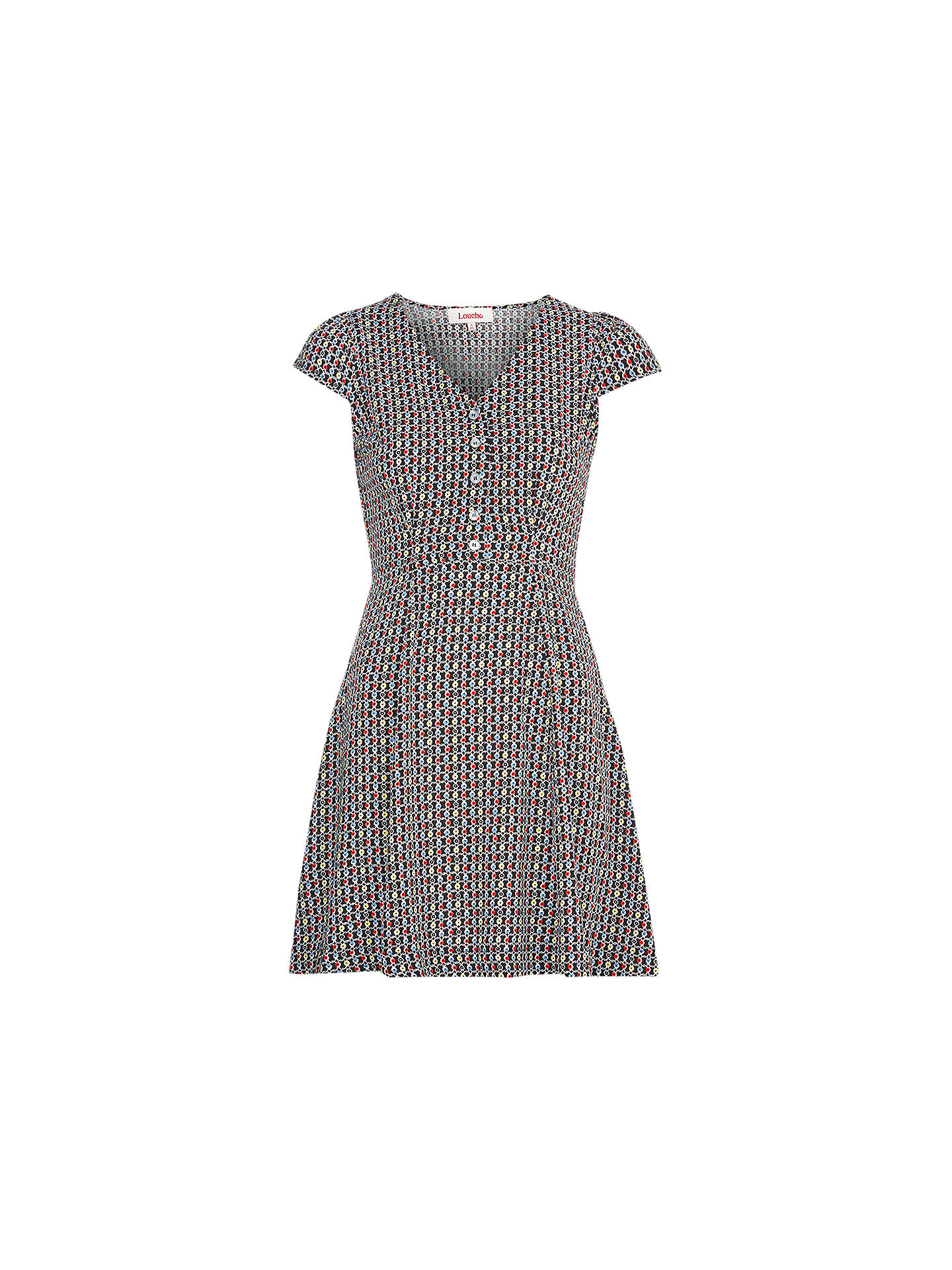 417522ef2c0f Buy Louche Cathleen Twine Print Dress, Multi, 8 Online at johnlewis.com ...