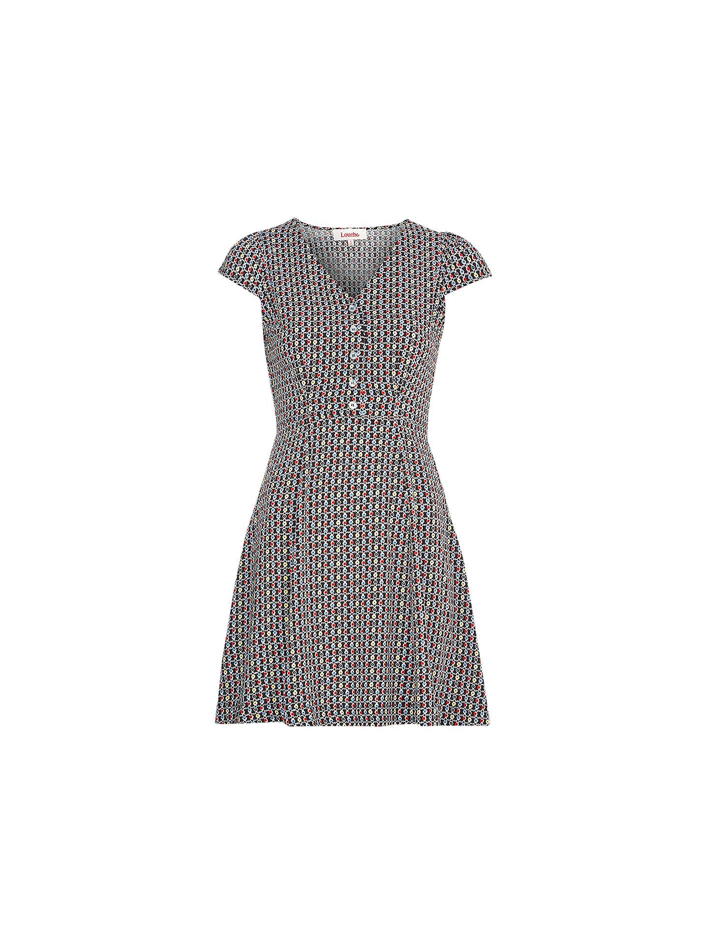 153c4586c04b Buy Louche Cathleen Twine Print Dress, Multi, 8 Online at johnlewis.com ...