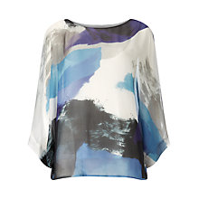 Buy Phase Eight Fabienne Silk Blouse, Blue/Multi Online at johnlewis.com