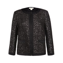 Buy Celuu Hannah Bouclé Jacket, Grey Online at johnlewis.com