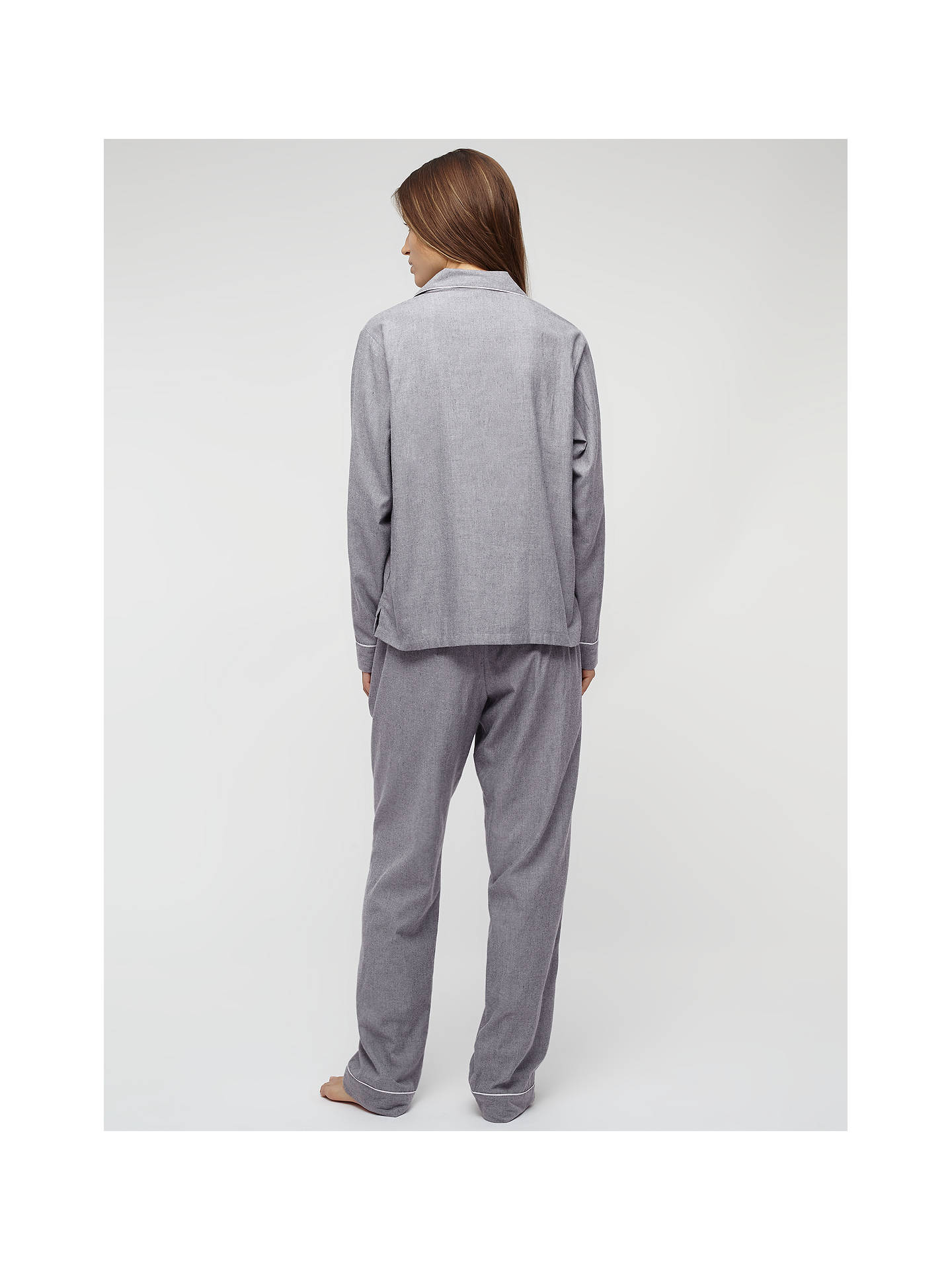 Buy Jigsaw Melange Pyjama Set, Grey, S Online at johnlewis.com