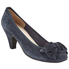 Buy John Lewis Annabelle Block Heeled Court Shoes, Navy Suede Online at johnlewis.com