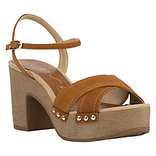 Buy Unisa Opera Block Heeled Sandals, Brown Online at johnlewis.com