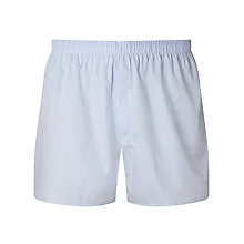 Buy Sunspel Gingham Woven Cotton Boxers, Blue Online at johnlewis.com