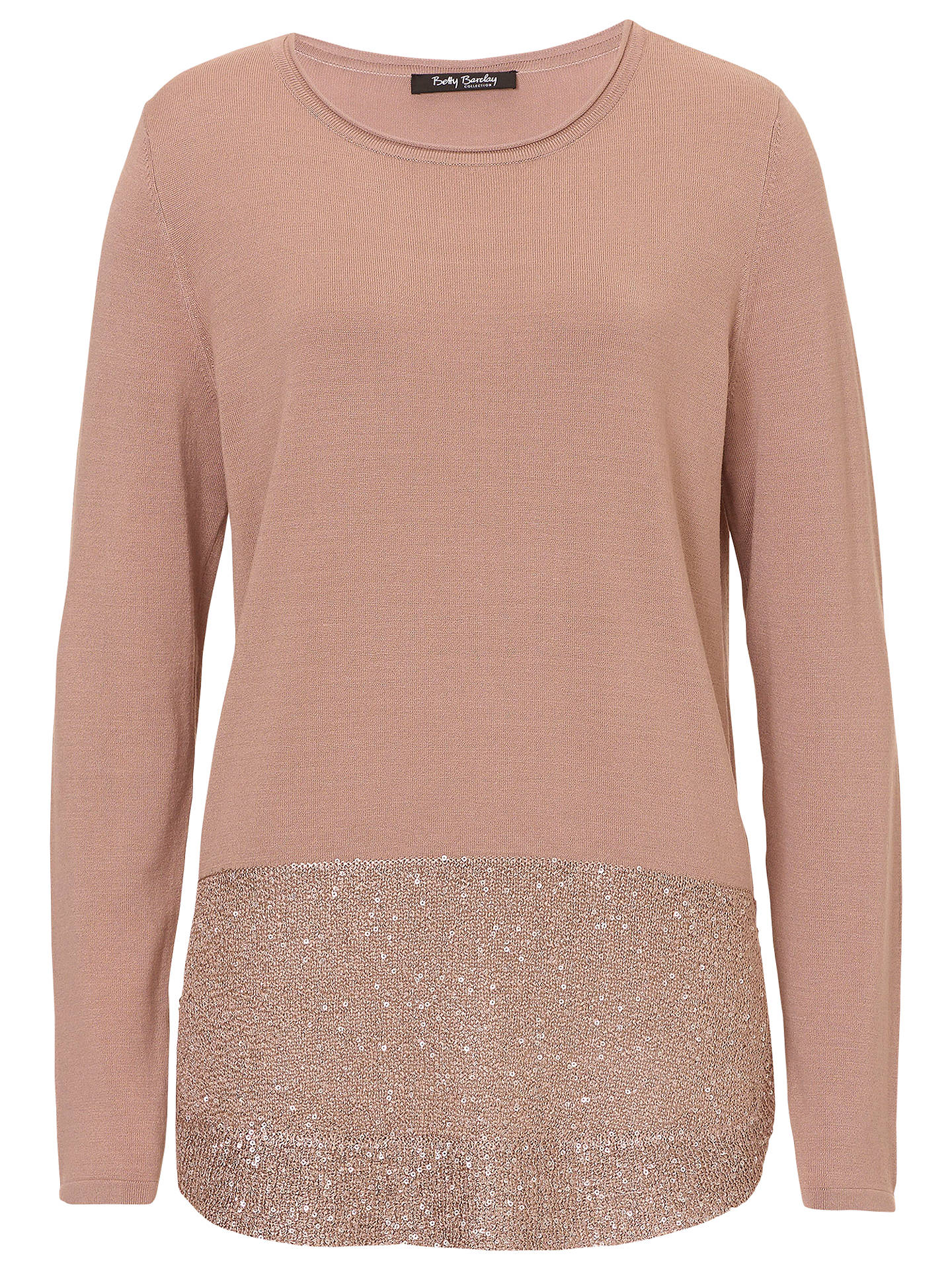 BuyBetty Barclay Fine Knit Tunic Jumper, Golden Taupe, 10 Online at  johnlewis.com ... 51e33b8d62
