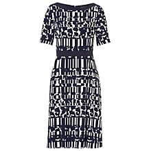 Buy Betty Barclay Graphic Print Dress, Dark Blue/Cream Online at johnlewis.com