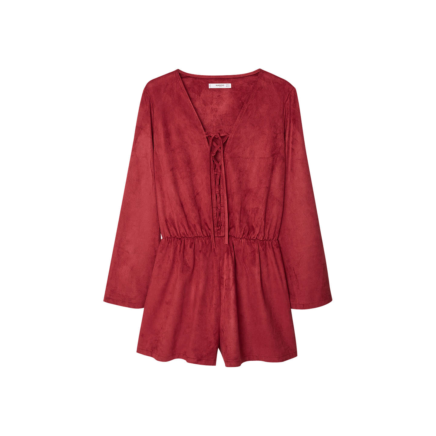 BuyMango Faux Suede Jumpsuit, Red, S Online at johnlewis.com