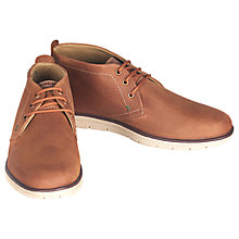 Buy Barbour Bowlam Lace-Up Chukka Boots, Cognac Nubuk Online at johnlewis.com
