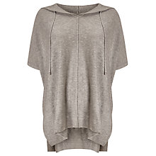 Buy Phase Eight Hooded Petula Poncho, Grey Marl Online at johnlewis.com