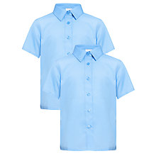 Buy John Lewis Girls' Easy Care Short Sleeve School Blouse Online at johnlewis.com