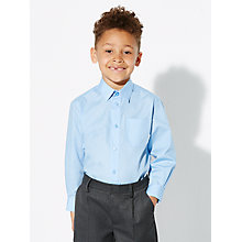 Buy John Lewis Boys' Easy Care Long Sleeve School Shirt, Pack of 2 Online at johnlewis.com