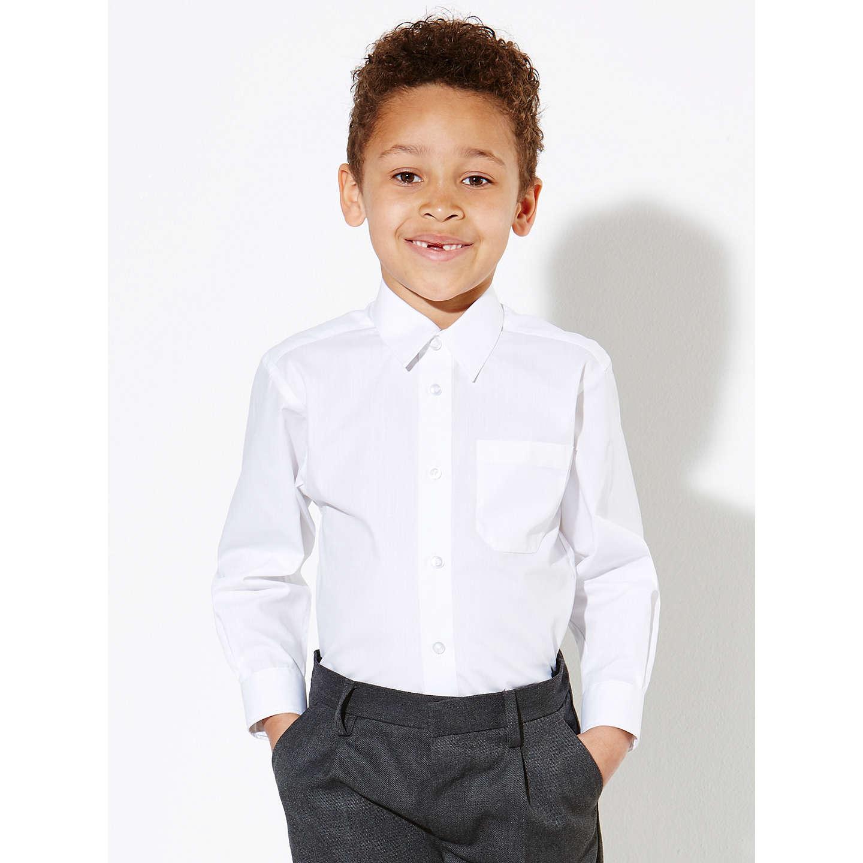John Lewis Boys 39 Easy Care Long Sleeve School Shirt Pack