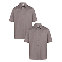Buy John Lewis Boys' Easy Care Short Sleeve School Shirt, Pack of 2 Online at johnlewis.com