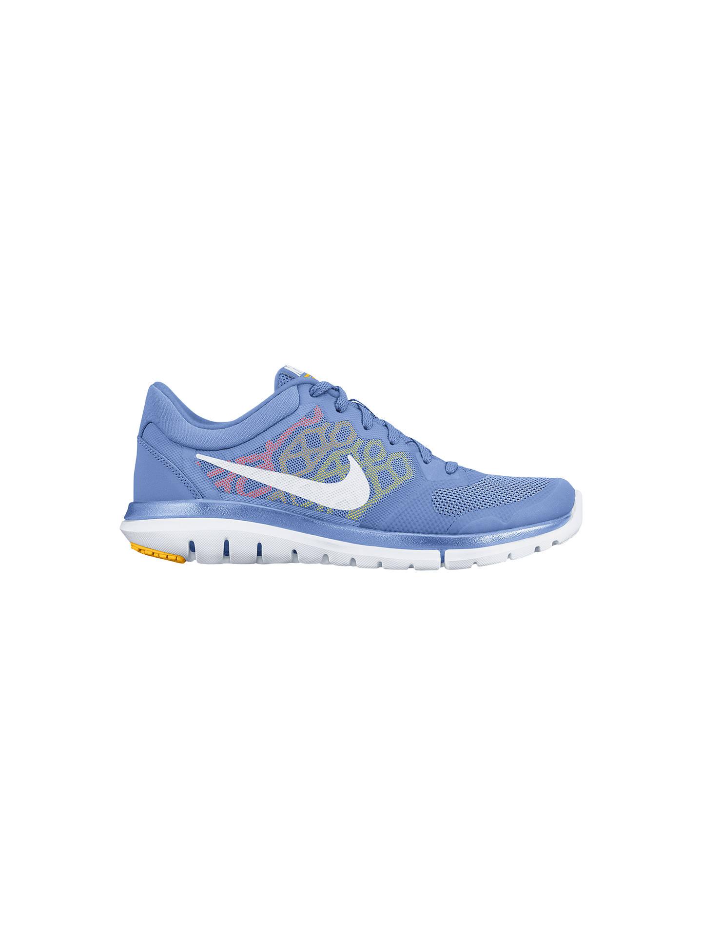 release date d6f96 595d7 Buy Nike Flex Run 2015 Women s Running Shoes, Blue White, 4 Online at ...