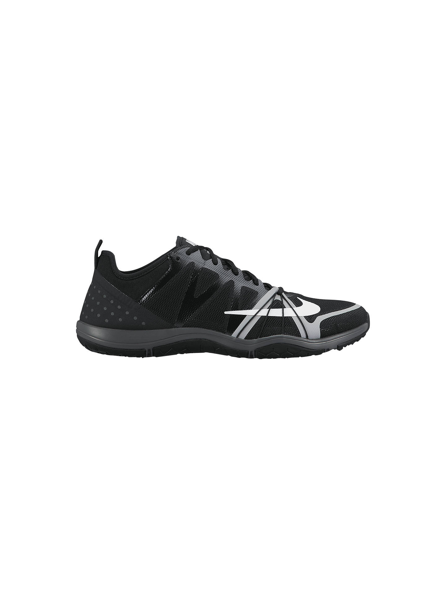 new product e1834 b2c90 Buy Nike Free Compete Women's Cross Trainers, Black/White, 4 Online at  johnlewis ...