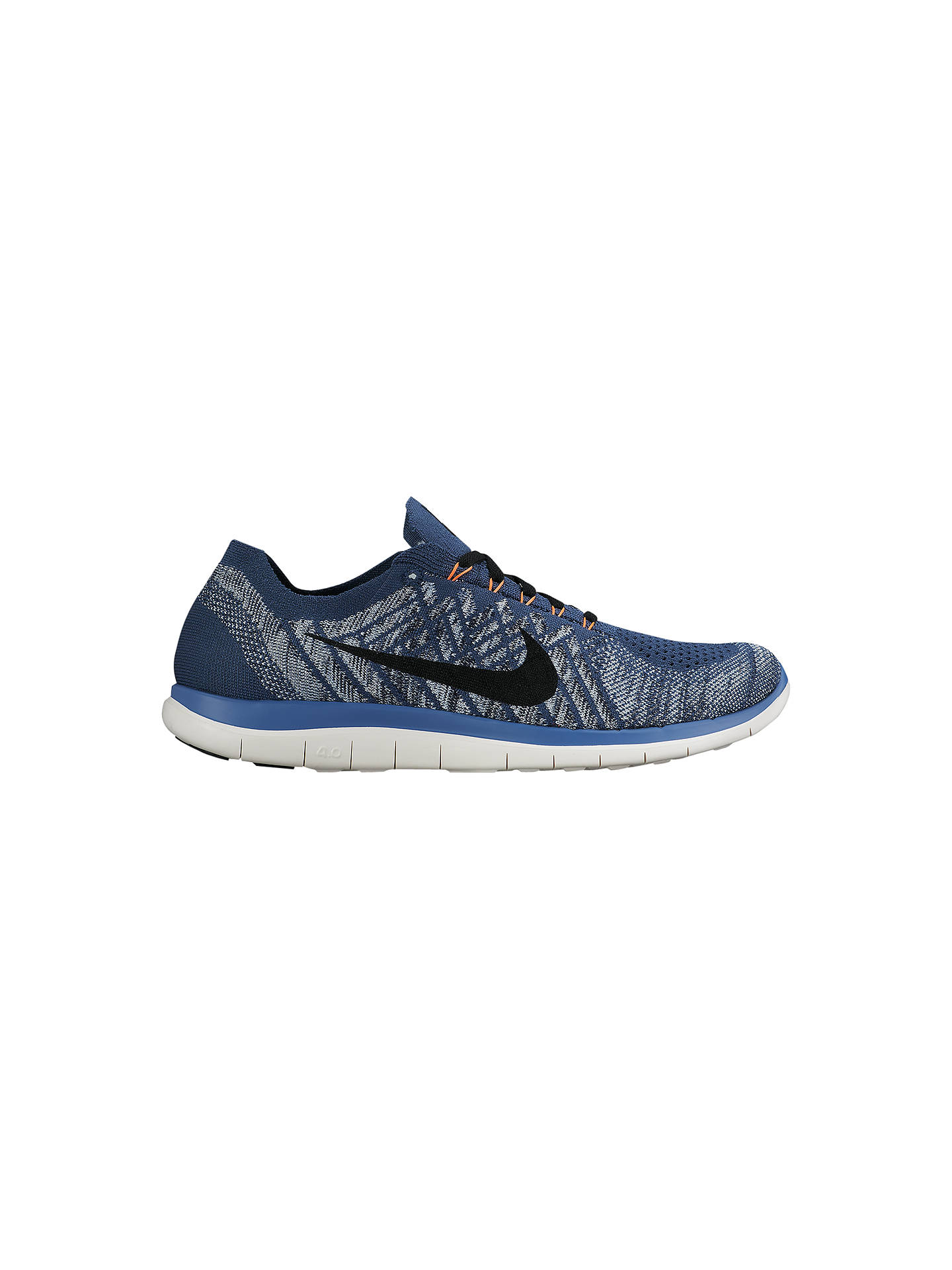 competitive price 081aa 3ad56 Buy Nike Free 4.0 Flyknit Men s Running Shoes, Squadron Blue, 7 Online at  johnlewis ...