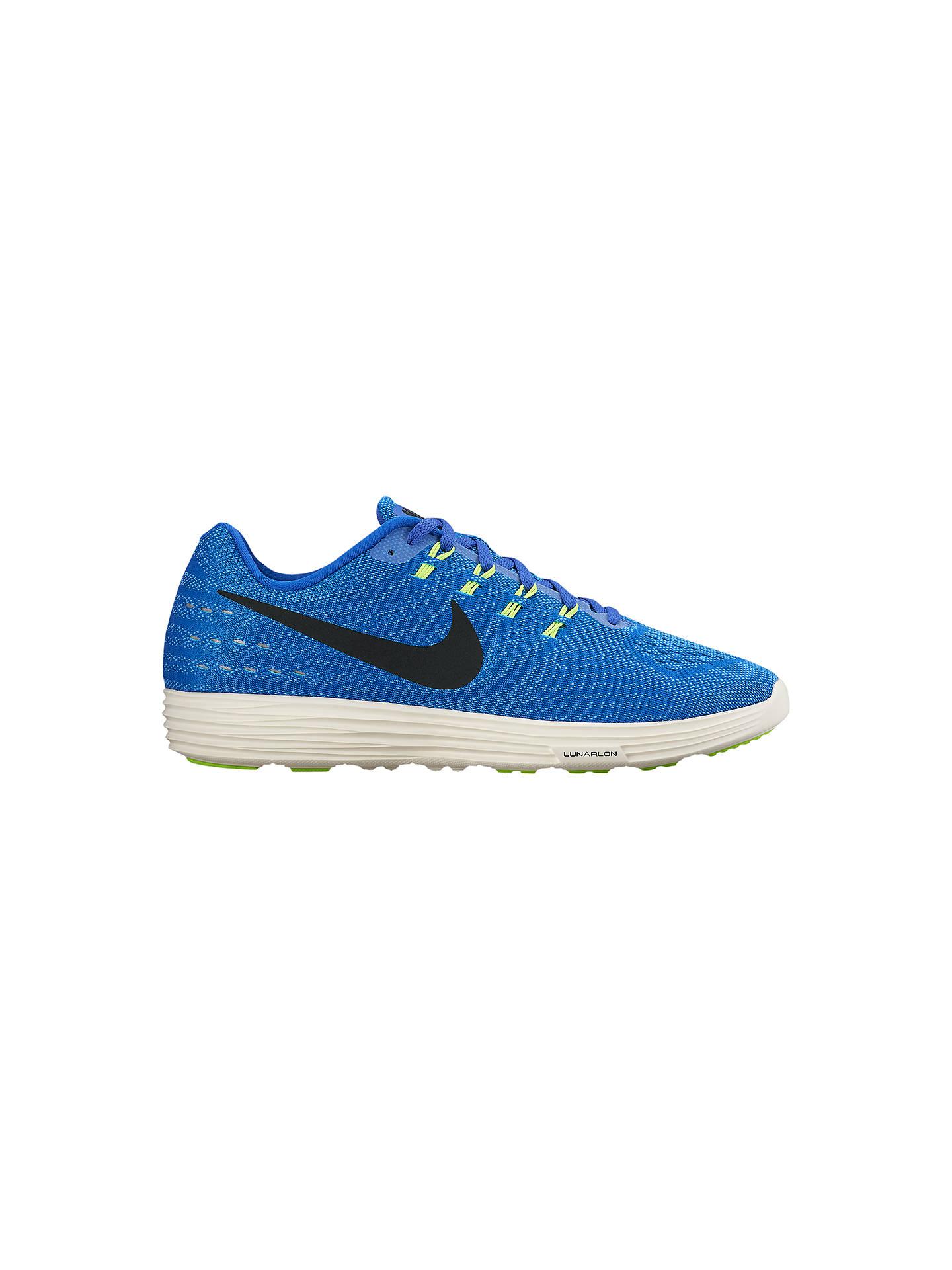 san francisco e528c 54b7f Buy Nike LunarTempo 2 Men s Running Shoes, Blue Black, 7 Online at  johnlewis ...