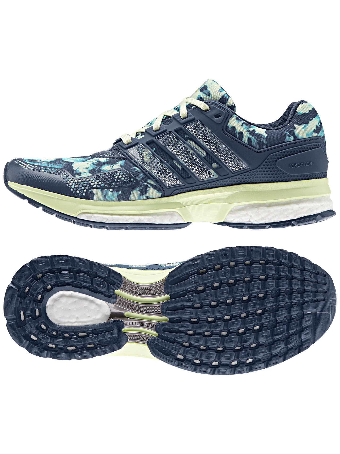 Adidas Response 2 Graphic Women's Running Shoes, Blue at