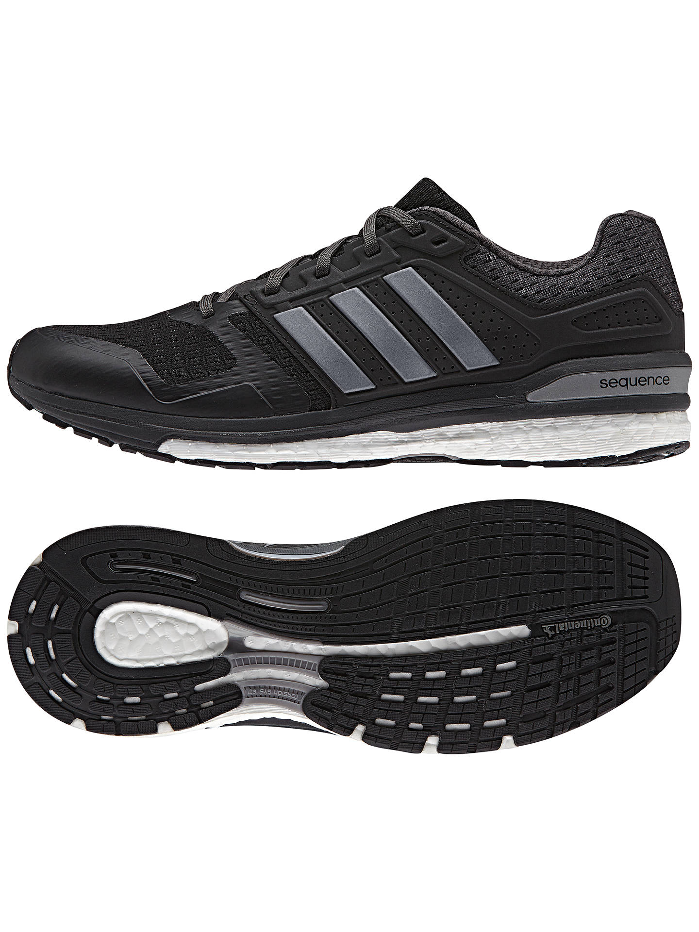 Velo Agricultura fluido  Adidas Supernova Sequence Boost 8 Men's Running Shoes, Black at John Lewis  & Partners