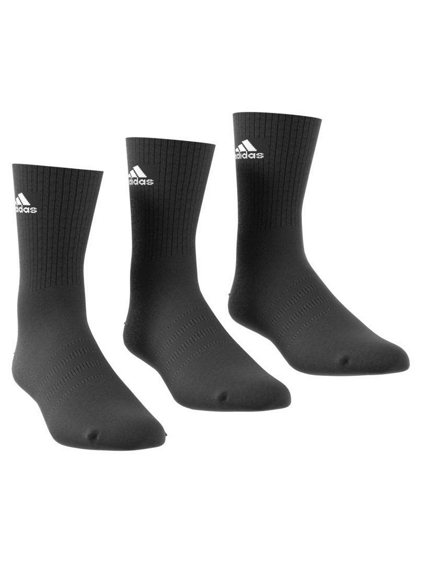 Buyadidas Performance Thin Crew Socks, Pack of 3, Black, 5.5-8 Online at johnlewis.com