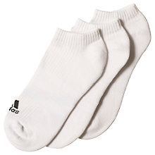 Buy Adidas 3-Stripes No-Show Unisex Socks, Pack of 3 Online at johnlewis.com