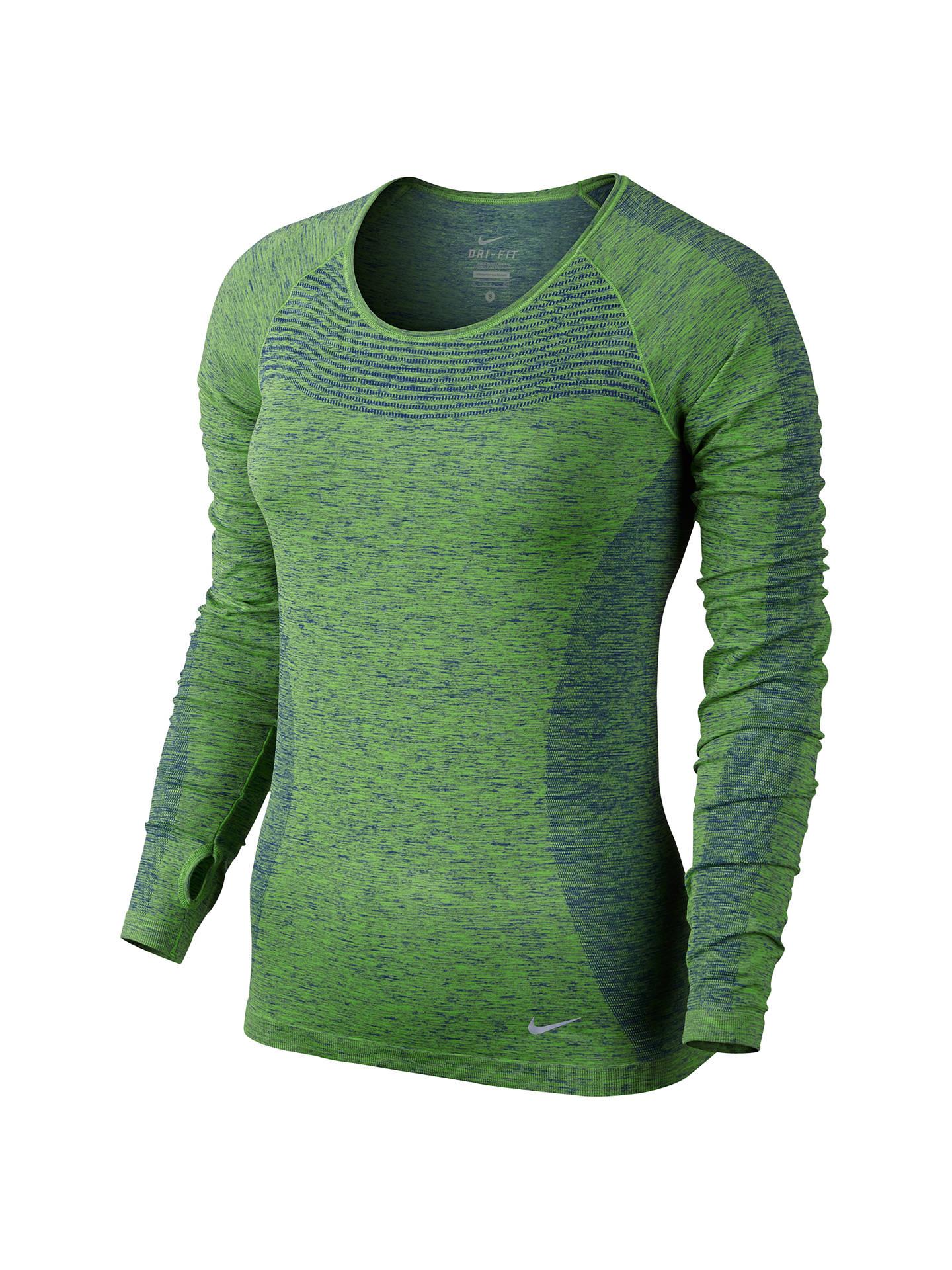 9417be9e4 Buy Nike Dri-FIT Knit Long Sleeve Running Top, Deep Royal Blue/Action ...