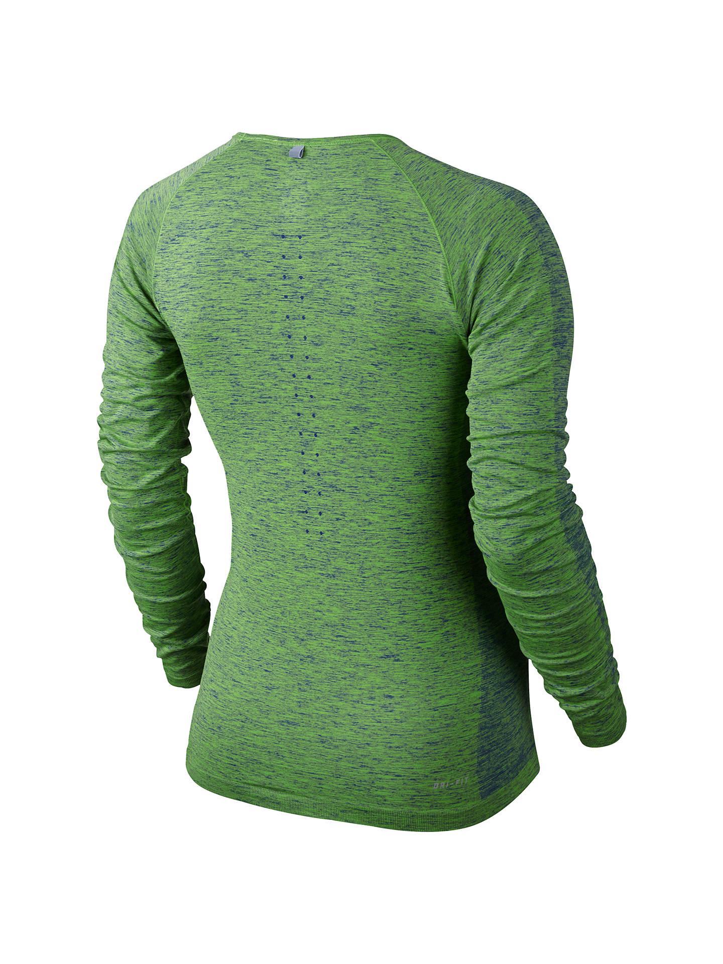 acd8115da ... Buy Nike Dri-FIT Knit Long Sleeve Running Top, Deep Royal Blue/Action  ...