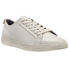Buy Kin by John Lewis Joe Leather Lace-Up Trainers, Off White Online at johnlewis.com