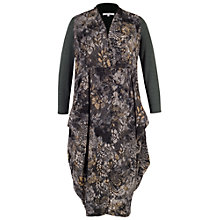 Buy Chesca Flock & Print Jersey Coat, Charcoal Online at johnlewis.com