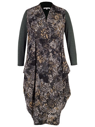 Buy Chesca Flock & Print Jersey Coat, Charcoal, 12-14 Online at johnlewis.com