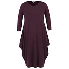 Buy Chesca Tuck Detail Jersey Dress, Aubergine Online at johnlewis.com