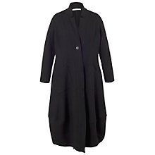 Buy Chesca Notch Collar Boiled Wool Coat, Black Online at johnlewis.com