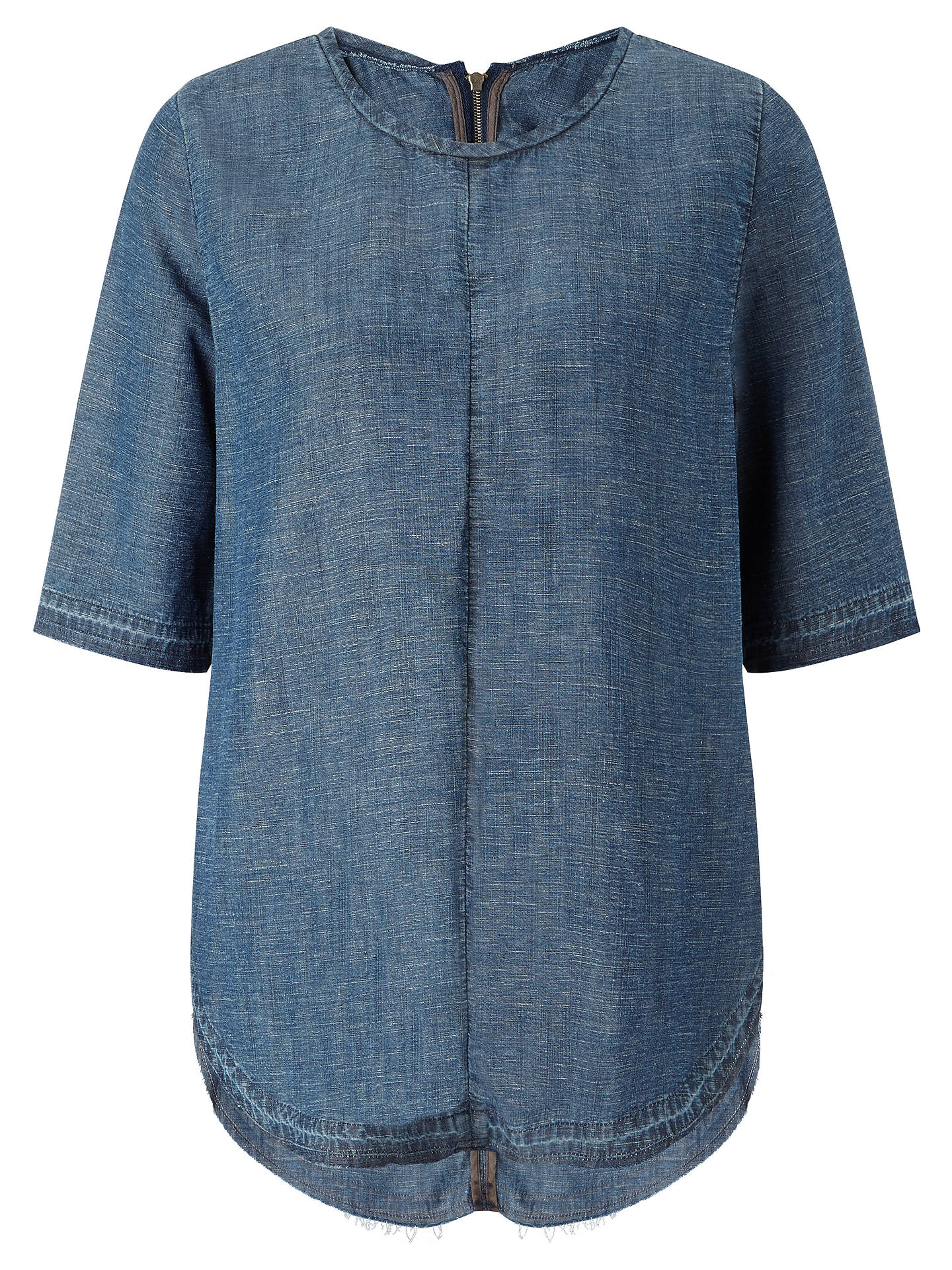 Buy Waven Isabella Raw Edge Top, Bonsai Blue, XS Online at johnlewis.com