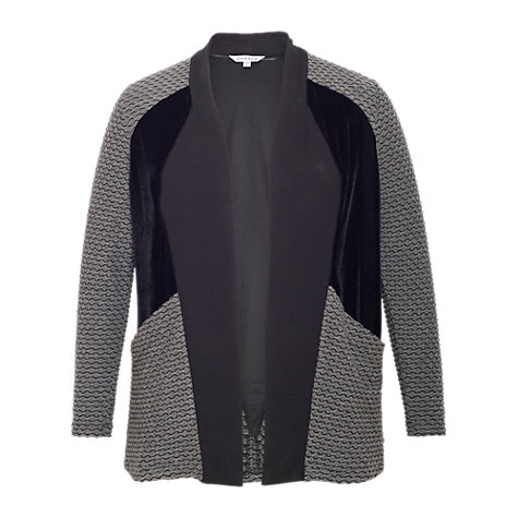 Buy Chesca Mini Wavy Shrug, Charcoal Online at johnlewis.com