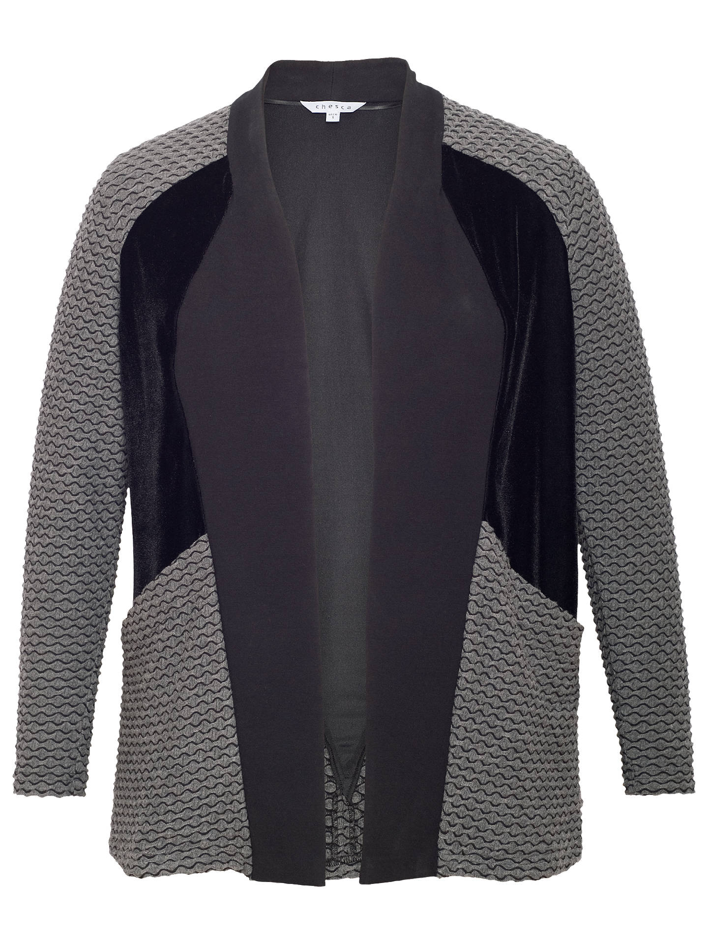 BuyChesca Mini Wavy Shrug, Charcoal, 12-14 Online at johnlewis.com